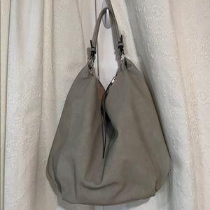 LN Gray faux leather hobo bag